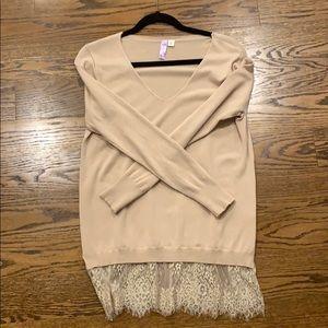 Alya tan light weight sweater